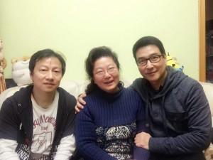农历年初三高中79届校友同郑婵娟老师拜年