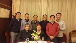 初中79届初三一班部分同学2016年1月3日和季虹楠老师聚会合影