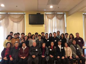 2月24日参加活动的硅谷市西校友们全家福